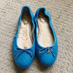SAM EDELMAN Blue Felicia Ballet Flats US5.5